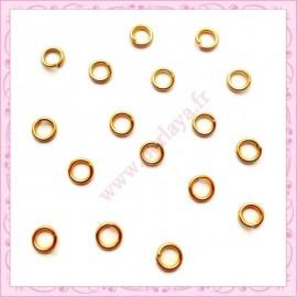 Lot de 200 anneaux dorés 8mm en métal
