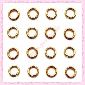 Lot de 1200 anneaux dorés 5mm