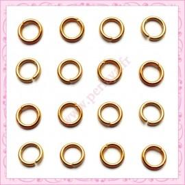 Lot de 2500 anneaux dorés 5mm