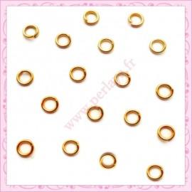 Lot de 1000 anneaux dorés 6mm en métal