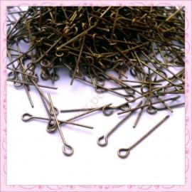 500 tiges bronze à tête ronde 20mm