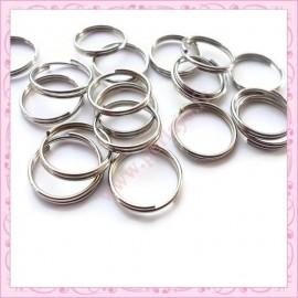 Lot de 800 anneaux doubles argentés foncés 6mm