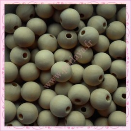 Lot de 200 perles rondes 12mm en bois