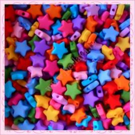 500 perles étoiles 9mm en acrylique