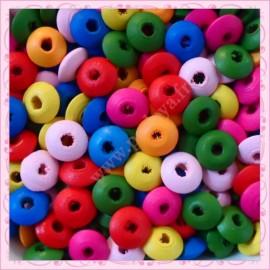 300 perles soucoupe 14mm en bois