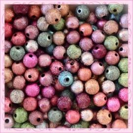 150 perles 8mm stardust en acrylique