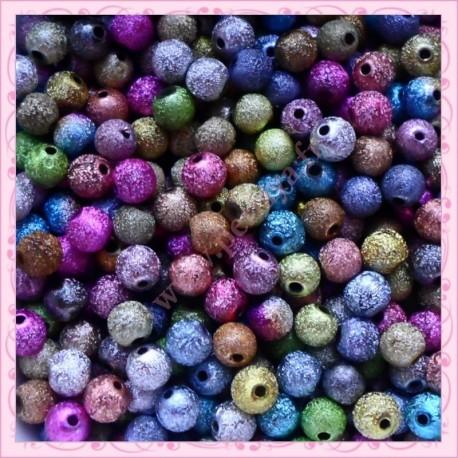 500 perles 6mm stardust en acrylique
