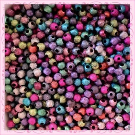 1000 perles 4mm stardust en acrylique