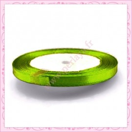 20 mètres de ruban satin 6mm vert pastel