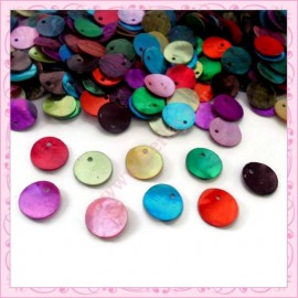 Mix de 50 sequins en nacre 13mm