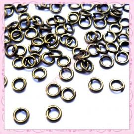 Lot de 1000 anneaux bronze 6mm