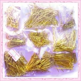 Lot de 800 tiges dorées à têtes rondes de 16mm à 50mm