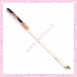 1 pince de précision à pointe courbée 12cm argentée