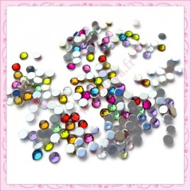 Mix de 200 strass en acrylique 2.5mm