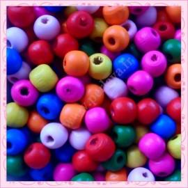 Mix de 1000 perles rondes 8mm en bois