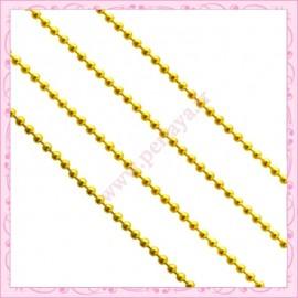 5 mètres de chaine bille rose fushia 1.5mm en métal