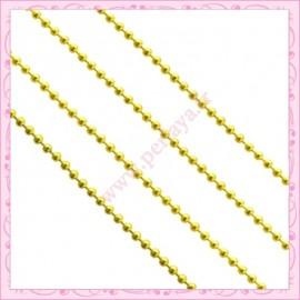 5 mètres de chaine bille doré 1.5mm en métal