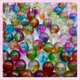 Lot de 300 perles 8mm en acrylique