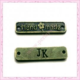 "15 breloques ""hand made"" bronze 25mm en métal"