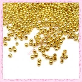 Lot de 2000 perles rondes en métal argentées 2.4mm