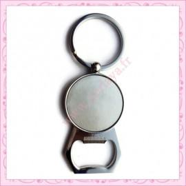 2 porte-clé décapsuleur 8.6cm avec support de 25mm argentés