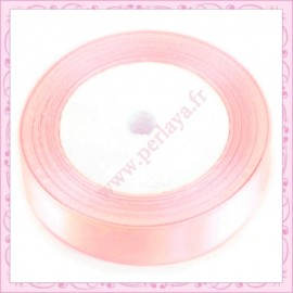 23 mètres de ruban satin 12mm rose pastel