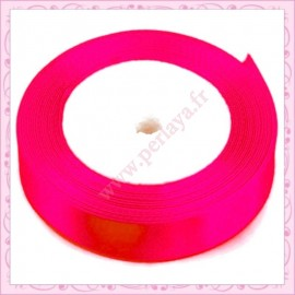 23 mètres de ruban satin 12mm rose fushia