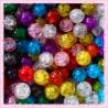 200 perles craquelées 10mm en verre
