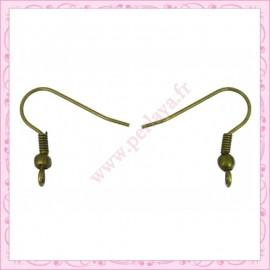 300 crochets dorés en métal pour boucle d'oreille 19mm