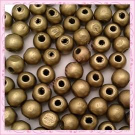 Lot de 200 perles rondes 12mm en bois