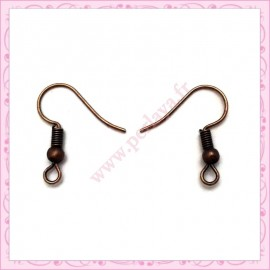300 crochets bronze en métal pour boucle d'oreille 19mm