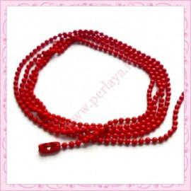 12 colliers 45cm en chaine argentée