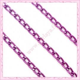 2 mètres de chaine aluminium violette