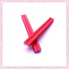 5 canes fimo noeuds rouge