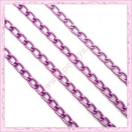 5 mètres de chaine aluminium violette
