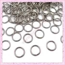 500 anneaux argentés foncés 8mm
