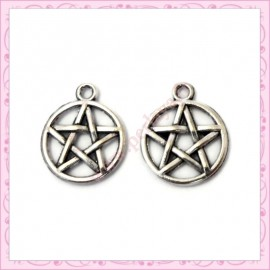 15 breloques pentacle wicca