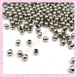 500 perles rondes en métal dorées 4mm
