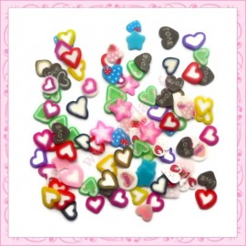 200 tranches fimo cupcake 5mm