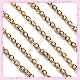 Lot de 10 mètres de chaine dorée 5mm en métal