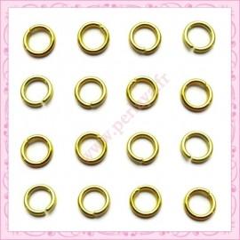 500 anneaux dorés 5mm en métal