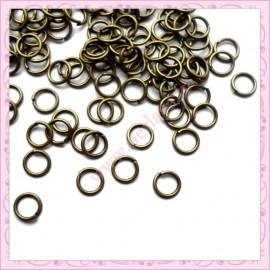 1200 anneaux bronze 5mm en métal