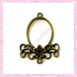 10 estampes en métal bronze fleur 34mm