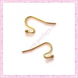 200 crochets dorés en métal pour boucle d'oreille 21mm