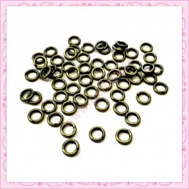 1500 anneaux bronze 5mm en métal 1mm