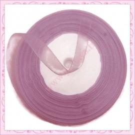 45 mètres de ruban organza 10mm violet
